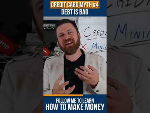 Credit Card MYTH #4: Debt is BAD #shorts